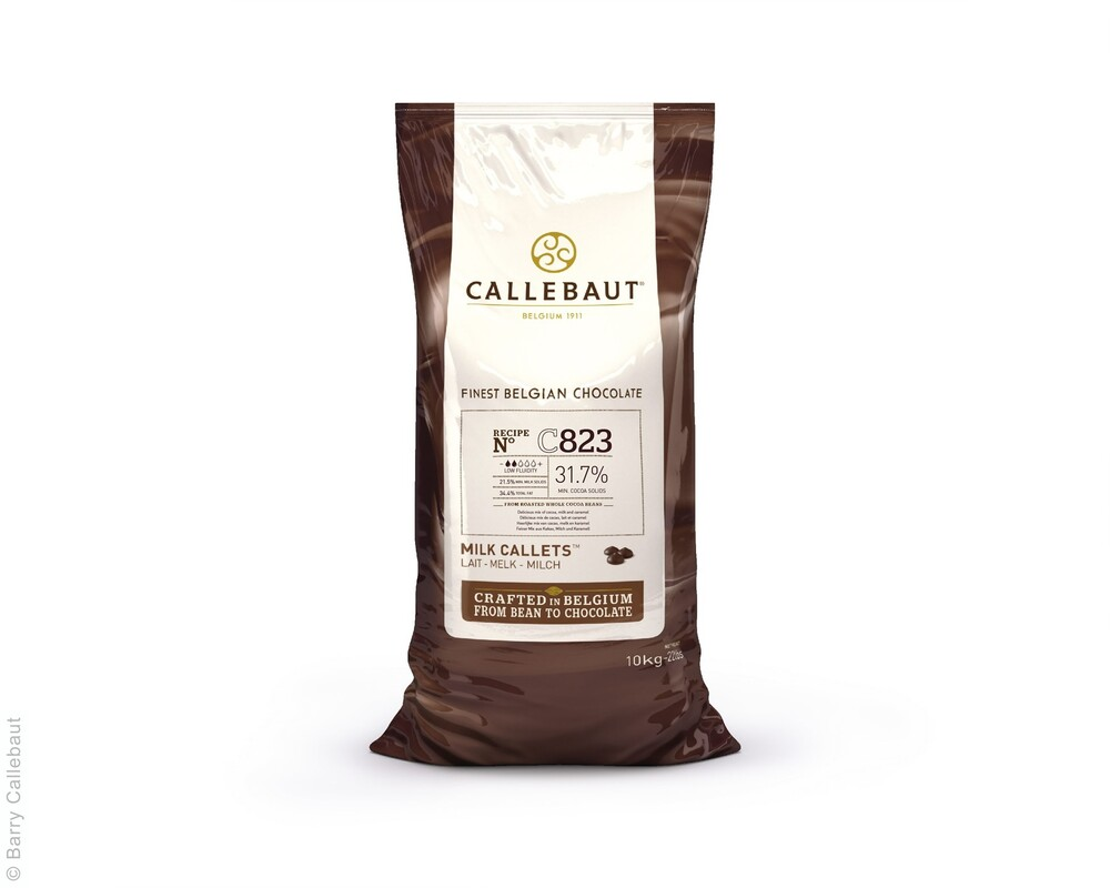 Callebaut  C823 Melk Callets 10 kg (Dikte 2 Druppels)