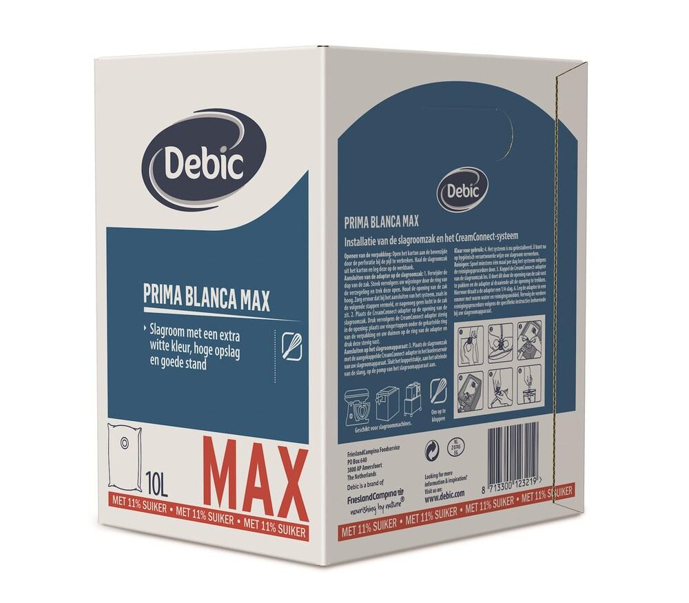 Debic Prima Blanca MAX slagroom gesuikerd 11,5% 10L