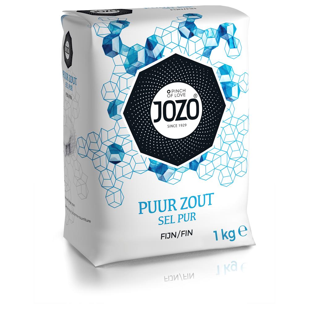 Wikkels Jozo Zout 1 kg (12) Naturel Zonder Jodium