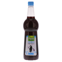 Fruiss Zero siroop zwarte bes 1L + vertaalsticker