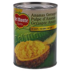 Del Monte Ananas Geraspt op sap 560g